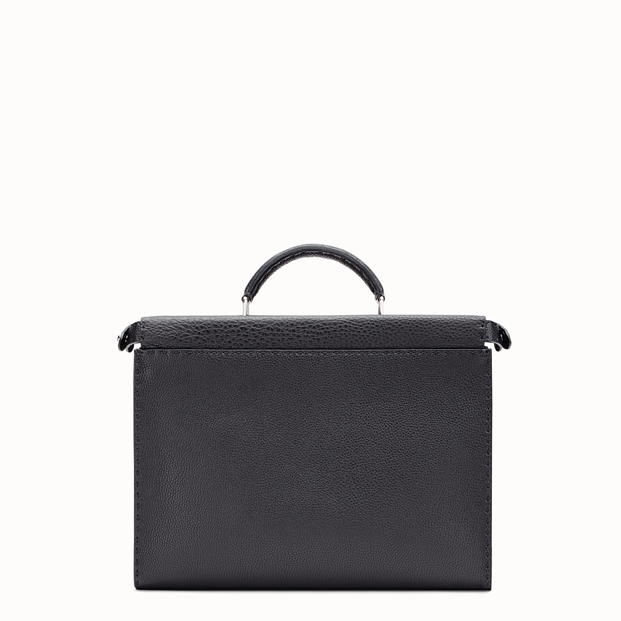 FENDI PEEKABOO ICONIC FIT - Black leather bag - view 3 detail