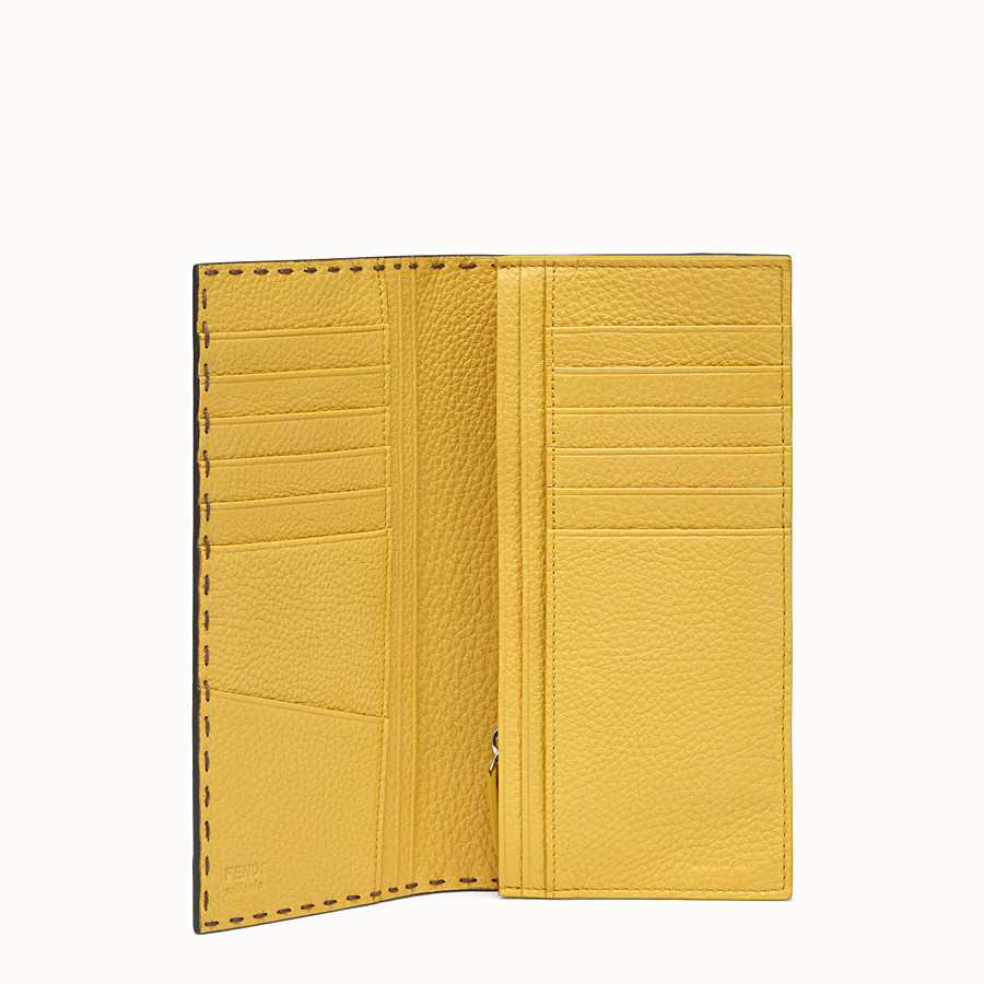 FENDI CONTINENTAL - Green leather wallet - view 3 detail