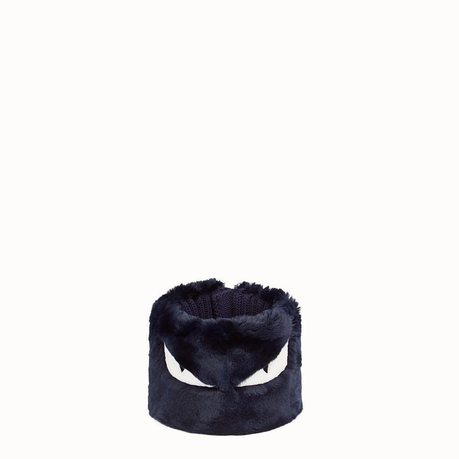 FENDI 칼라 - 블루 컬러의 퍼 및 울 소재 - view 1 detail