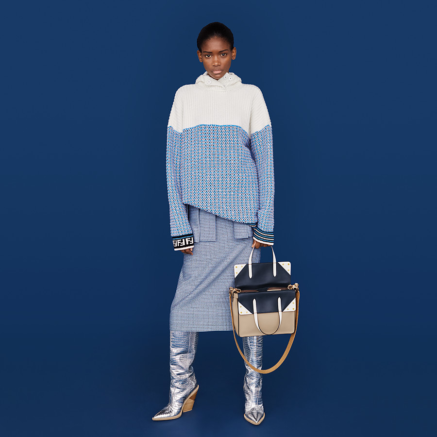 FENDI SKIRT - Micro-check wool and silk skirt - view 4 detail