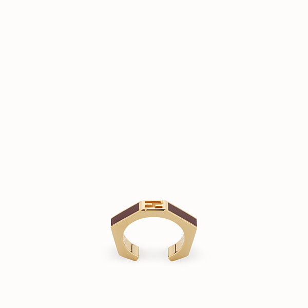 FENDI BAGUETTE RING - Polished burgundy Baguette ring - view 1 small thumbnail