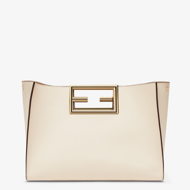 FENDI FENDI WAY MEDIUM - White leather bag - view 1 detail