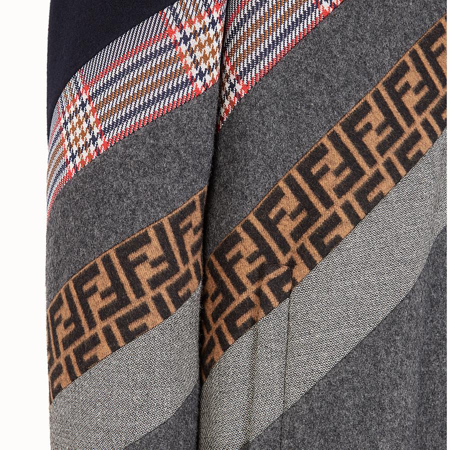 FENDI 外套 - 拼色羊毛外套 - view 3 detail