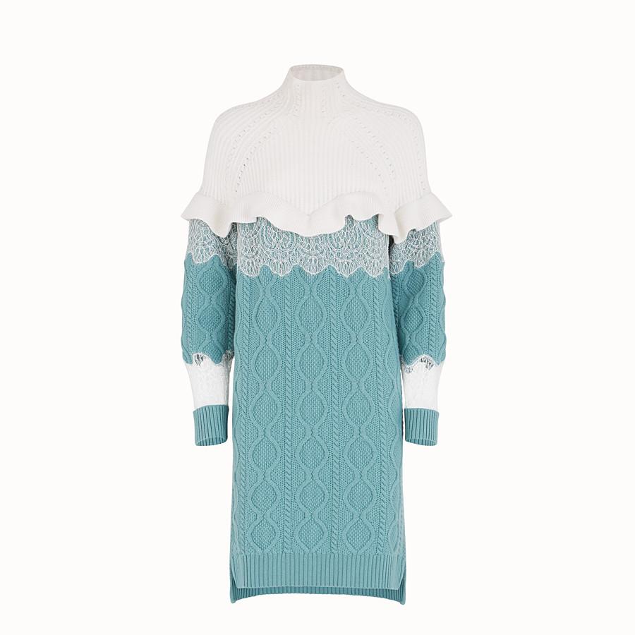 FENDI KLEID - Kleid aus Wolle in Hellblau - view 1 detail