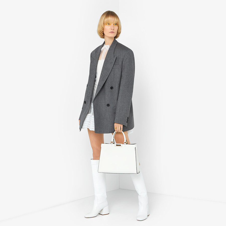FENDI JACKET - Grey flannel blazer - view 4 detail