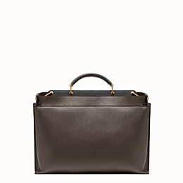 FENDI PEEKABOO ICONIC ESSENTIAL - Brown leather bag - view 3 thumbnail