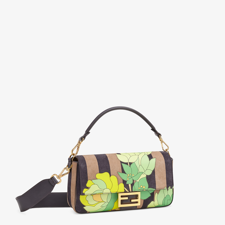 FENDI BAGUETTE - Brown nubuck leather bag - view 3 detail