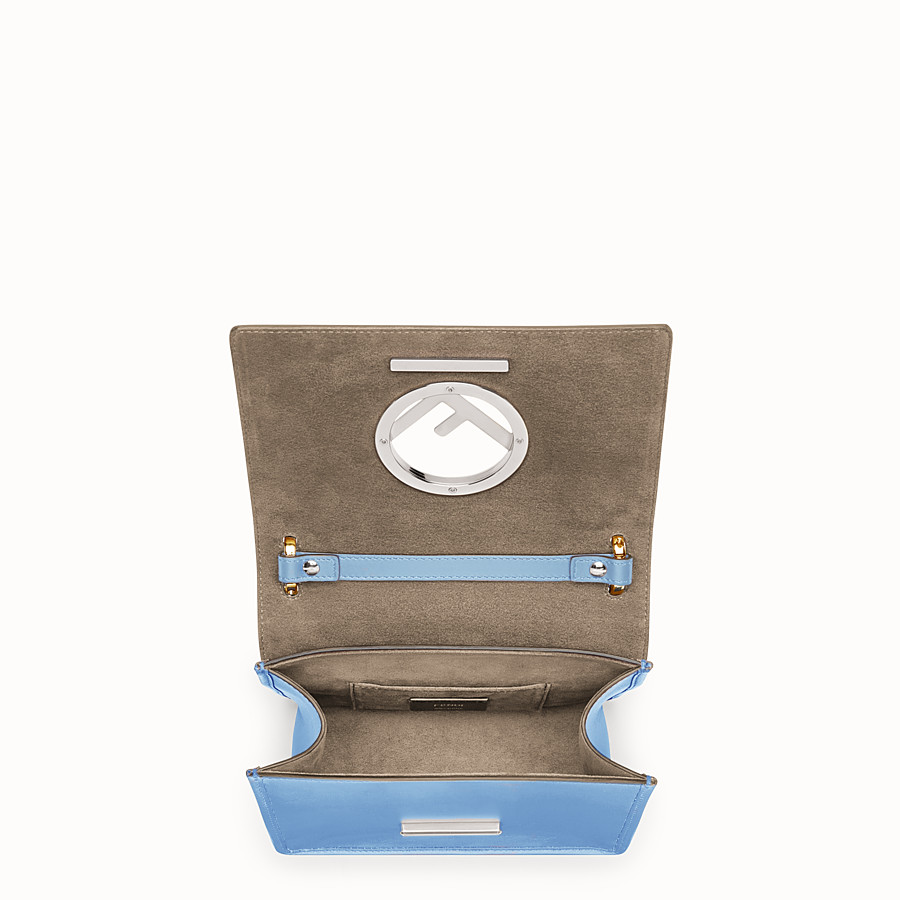 FENDI KAN I F SMALL - Light blue leather mini-bag - view 4 detail