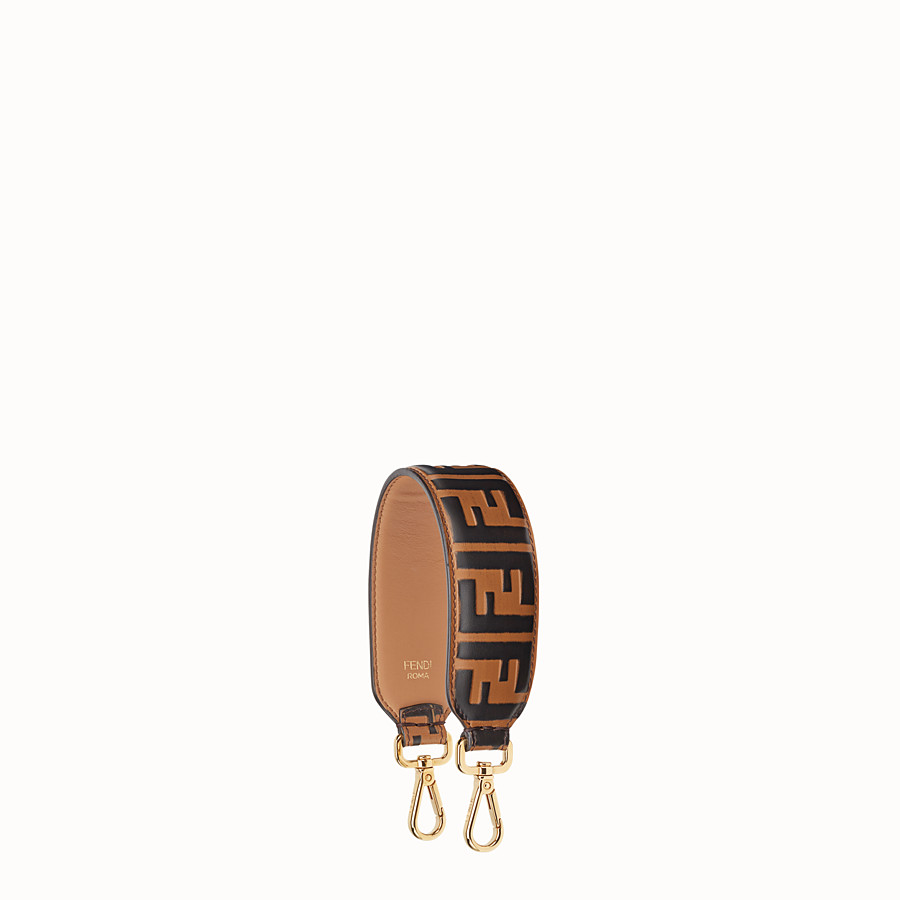 FENDI MINI STRAP YOU - Leather shoulder strap - view 1 detail