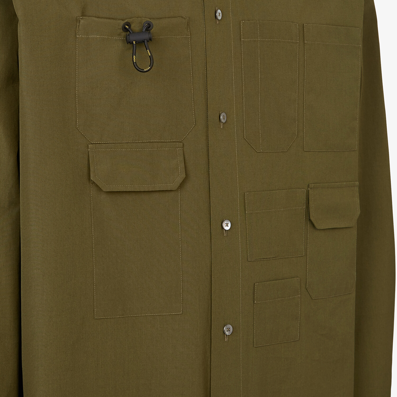 FENDI SHIRT - Green poplin shirt - view 3 detail