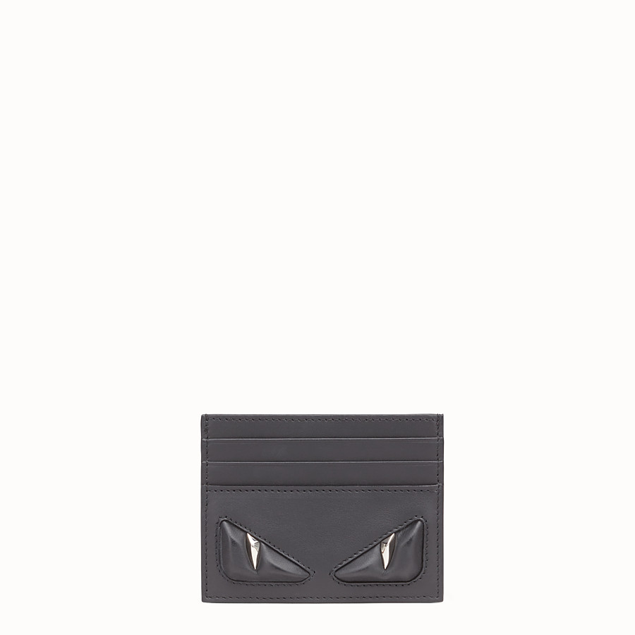 FENDI CARD HOLDER - Six-slot black leather card holder - view 1 detail