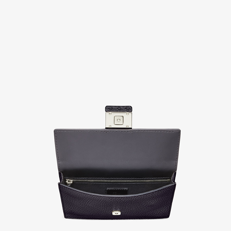 FENDI BAGUETTE POUCH - Black leather bag - view 4 detail