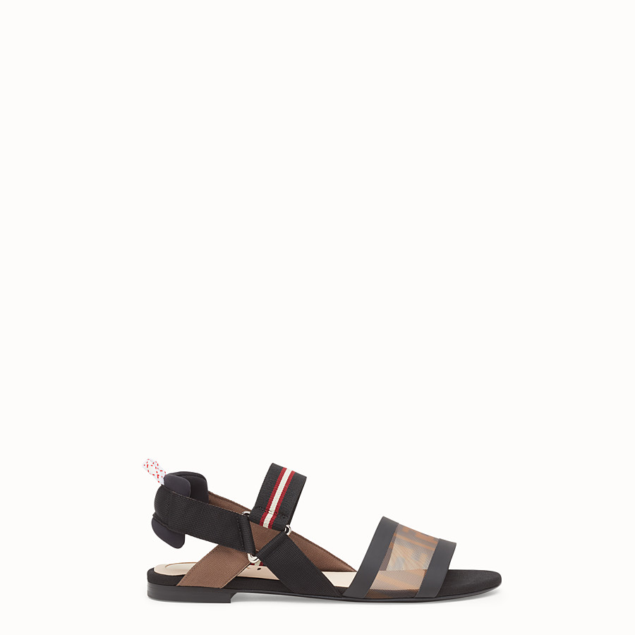 FENDI SANDALS - Multicolour technical mesh flats - view 1 detail