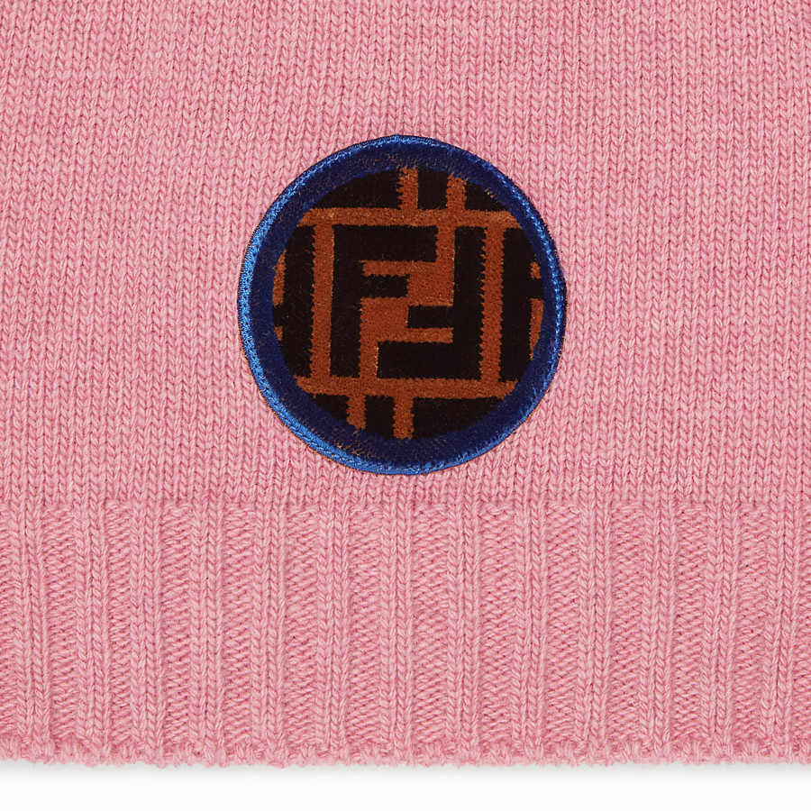FENDI HAT - Pink wool and cashmere hat - view 2 detail