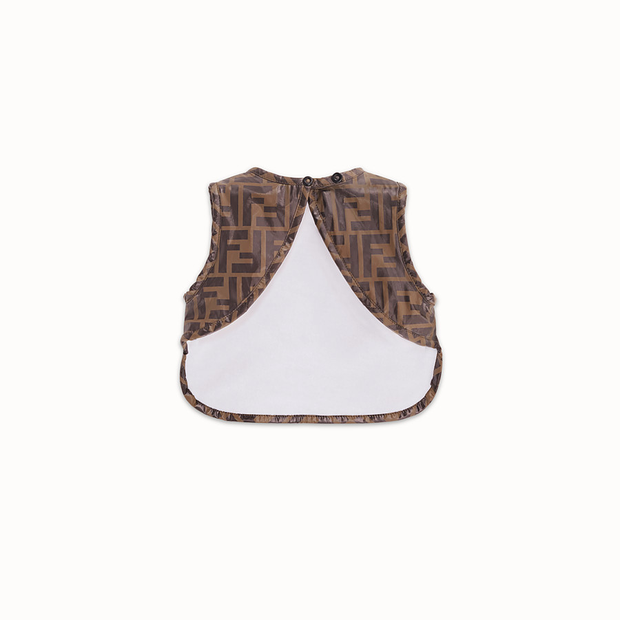 FENDI BIB - Tobacco plastic lined nylon bib - view 2 detail