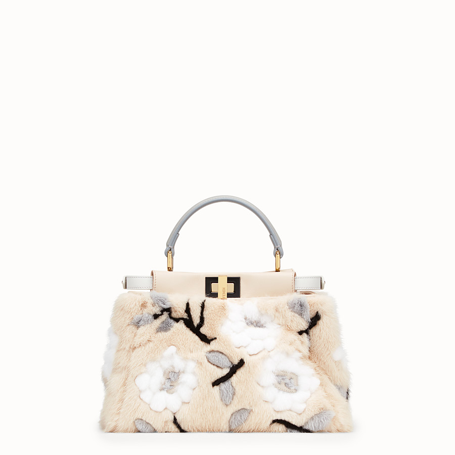 FENDI PEEKABOO ICONIC MINI - Multicolour mink bag - view 4 detail