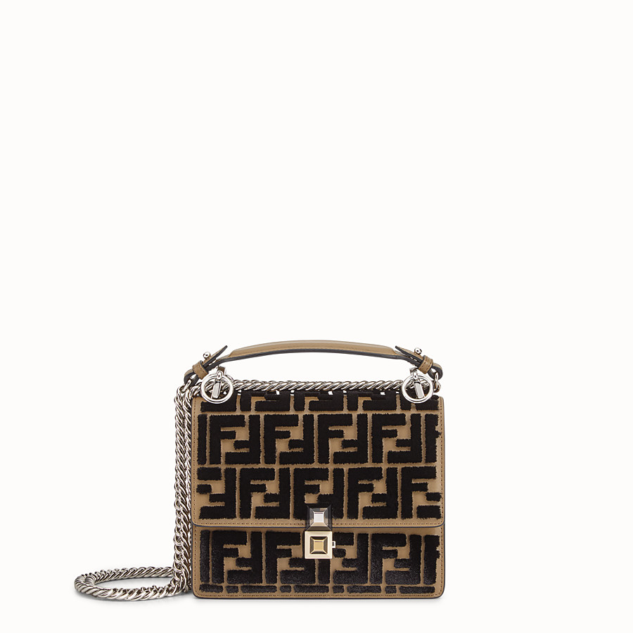 FENDI KAN I SMALL - Brown leather minibag - view 1 detail