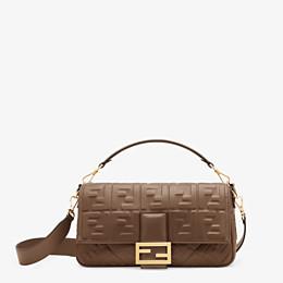 FENDI BAGUETTE LARGE - Green nappa leather bag - view 1 thumbnail