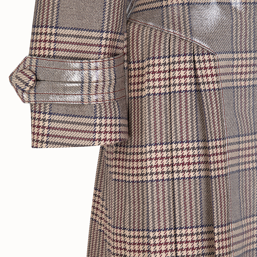 FENDI MANTEAU LONG - Manteau en laine Prince de Galles - view 3 detail