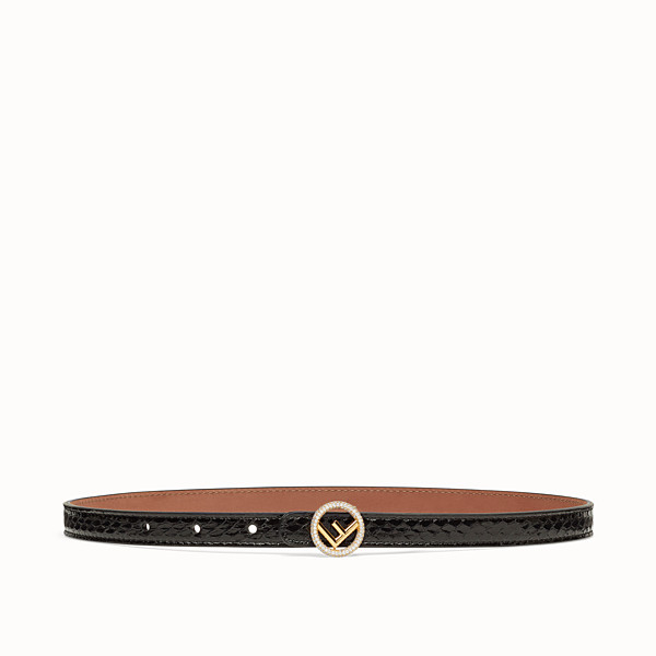FENDI BELT - Black elaphe belt - view 1 small thumbnail