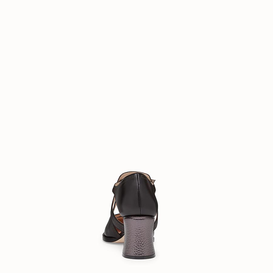 FENDI SANDALES - Escarpins en cuir noir - view 3 detail