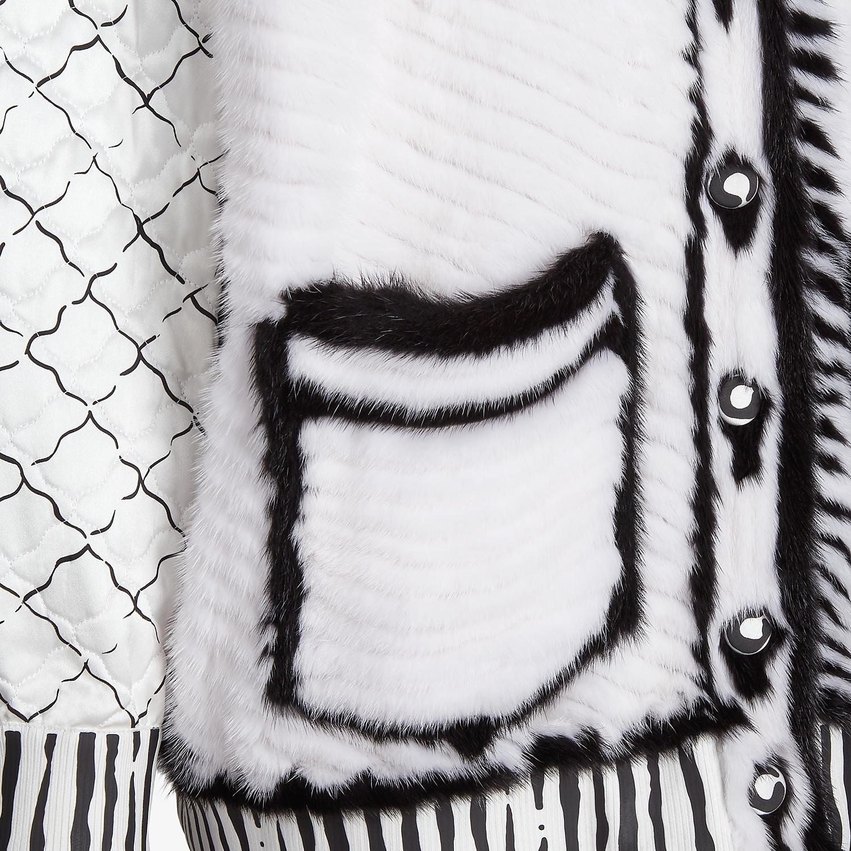 FENDI CARDIGAN - Fendi Roma Joshua Vides mink cardigan - view 3 detail