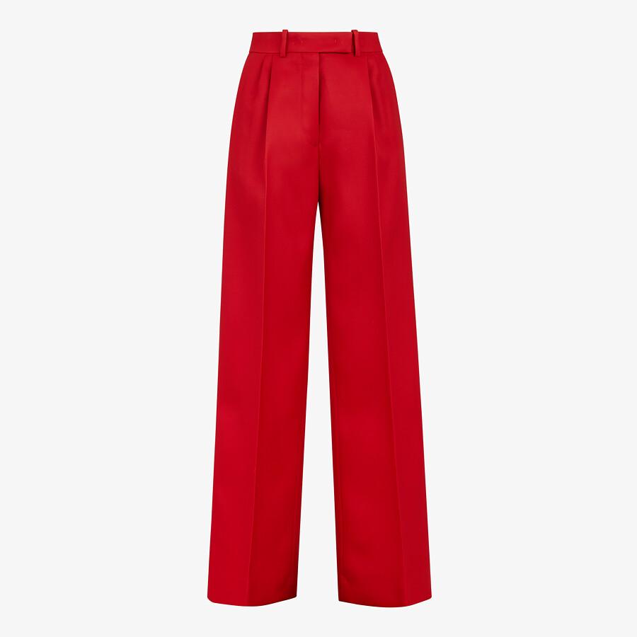 FENDI PANTS - Red silk and wool pants - view 1 detail