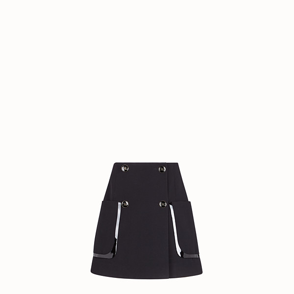 FENDI SKIRT - Black gabardine skirt - view 1 small thumbnail