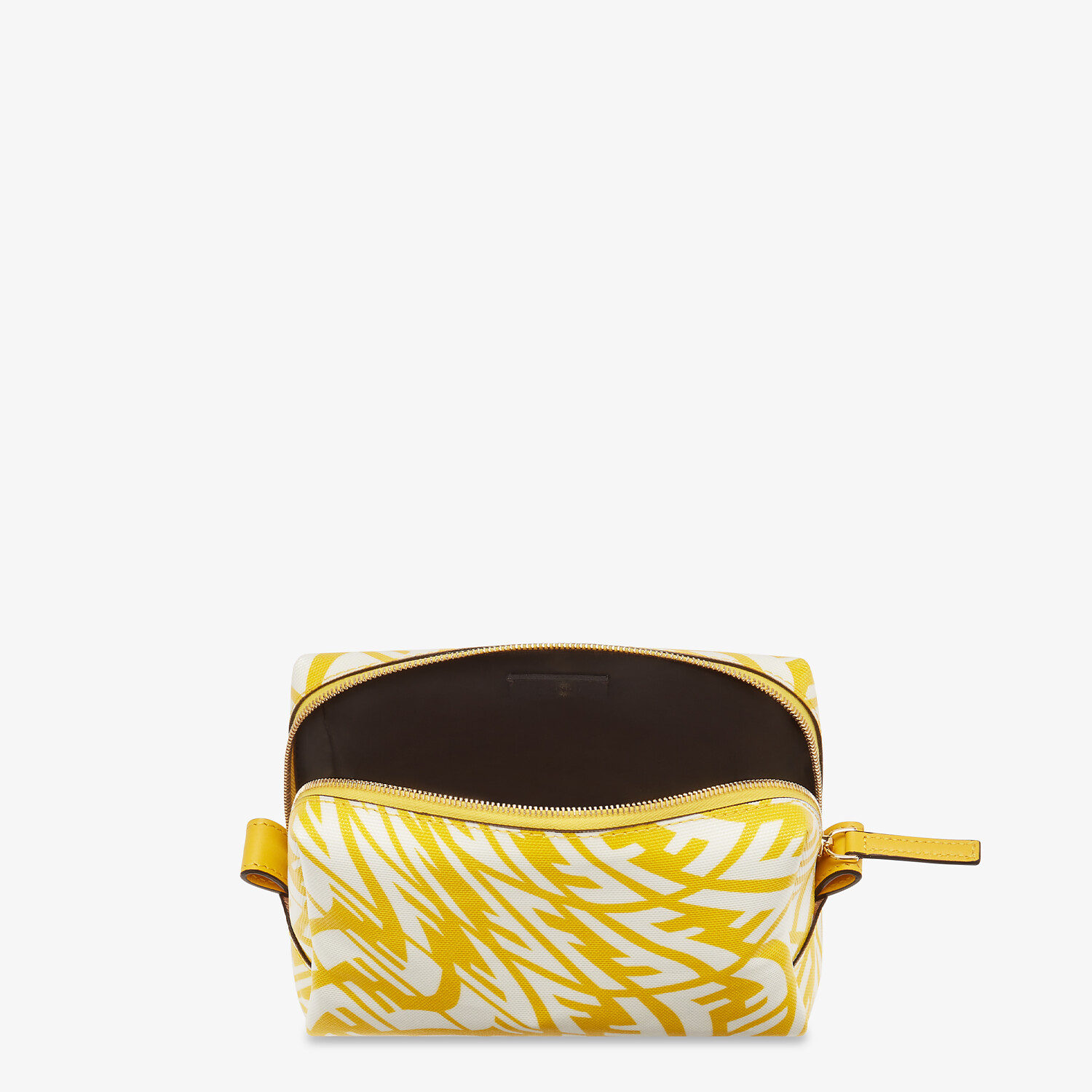 FENDI BEAUTY POUCH SMALL - Yellow canvas toiletry case - view 3 detail