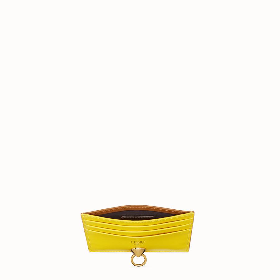 FENDI 카드 홀더 - 멀티 컬러의 플랫 가죽 카드 홀더 - view 4 detail