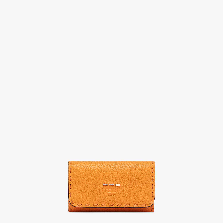 FENDI KEY RING - Orange leather pouch - view 1 detail