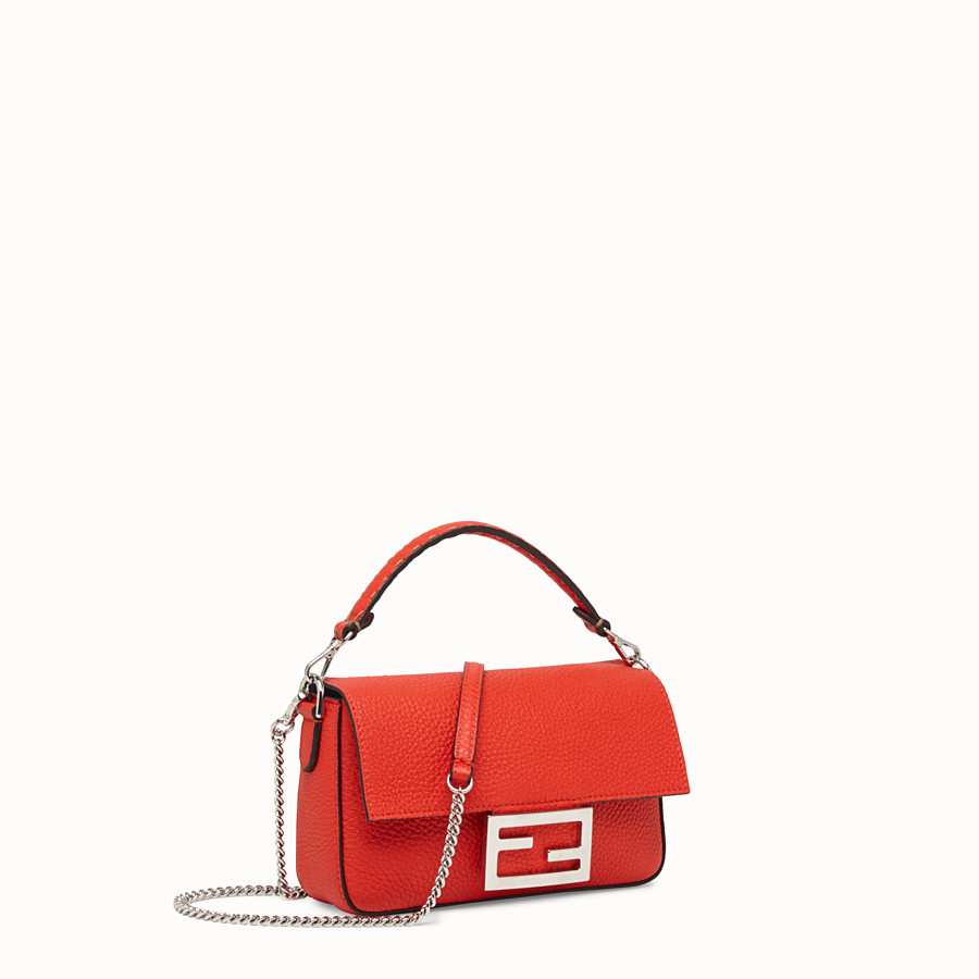 FENDI MINI BAGUETTE - Fendi Roma Amor leather bag - view 2 detail