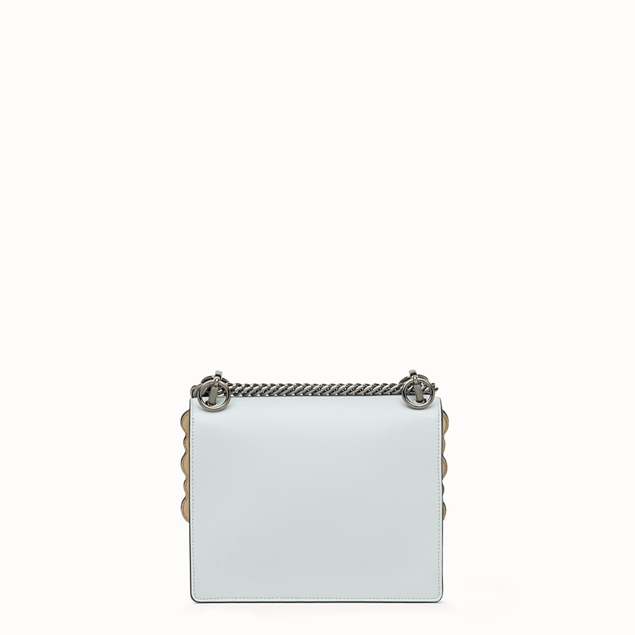 FENDI KAN I SMALL - Grey leather minibag - view 3 detail