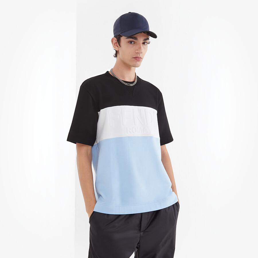 FENDI T-SHIRT - Multicolor jersey T-shirt - view 4 detail