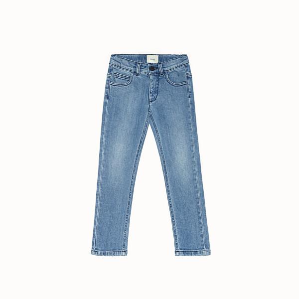 FENDI TROUSERS - Blue denim trousers - view 1 small thumbnail