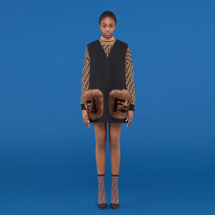 FENDI GILET - Black wool gilet - view 4 detail