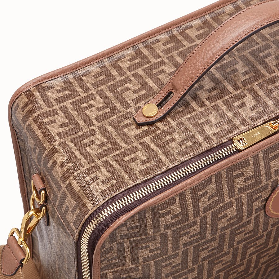 FENDI TRAVEL BAG MEDIUM - Large brown fabric bag - view 5 detail