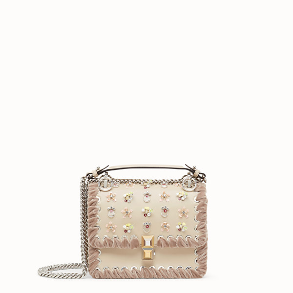 FENDI KAN I SMALL - Beige leather mini-bag - view 1 small thumbnail