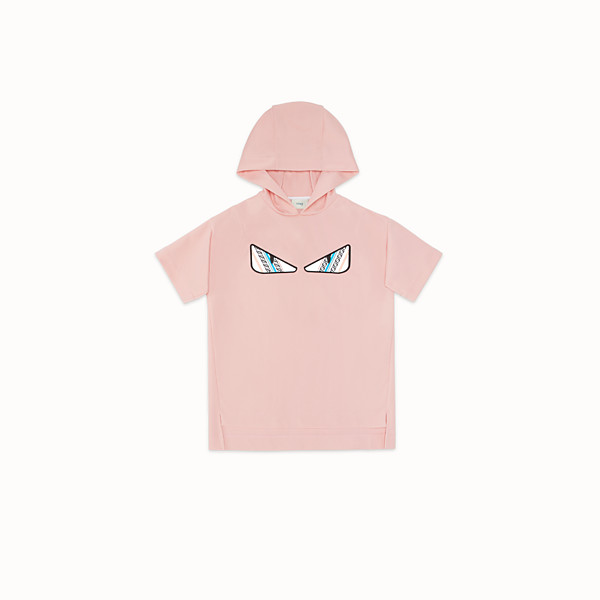FENDI DRESS - Pink fabric dress/sweatshirt - view 1 small thumbnail