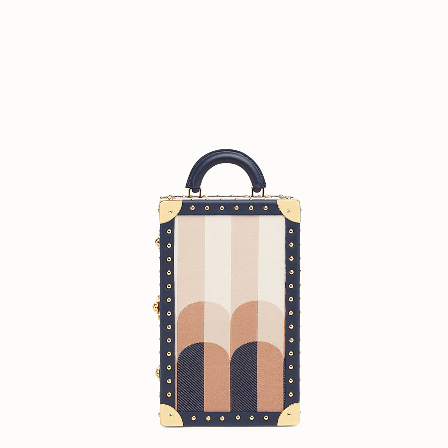 FENDI TRAVEL CASE LARGE - Travel case in multicolor jacquard - view 1 detail
