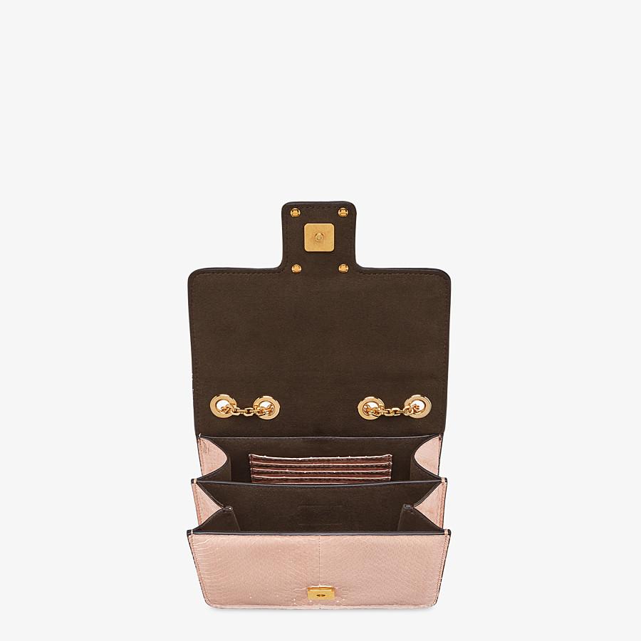 FENDI FENDI FAB - Pink elaphe bag - view 4 detail