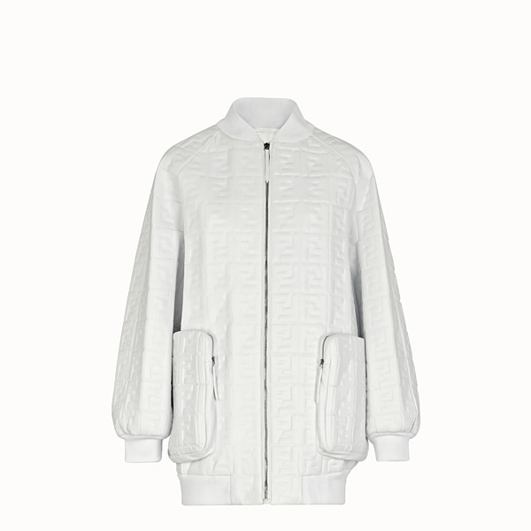 FENDI BOMBER - White nappa leather bomber. - view 1 small thumbnail