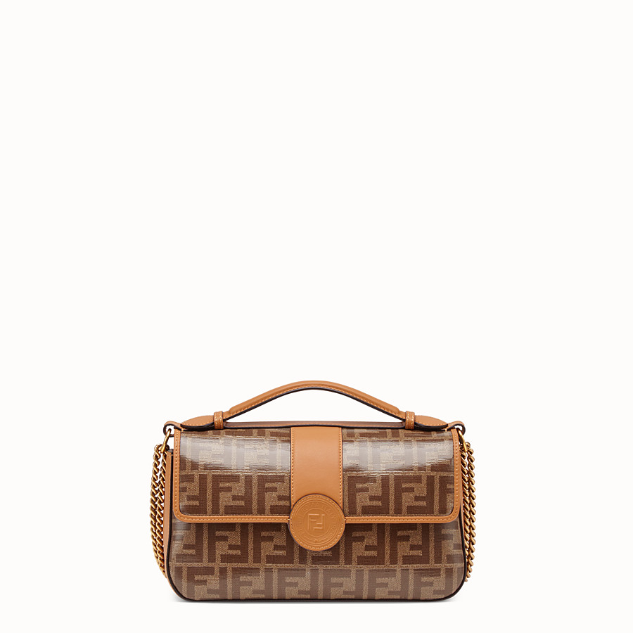 FENDI DOUBLE F - Multicolour canvas bag - view 2 detail