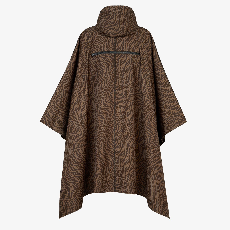 FENDI CLOAK - Brown nylon cape - view 2 detail