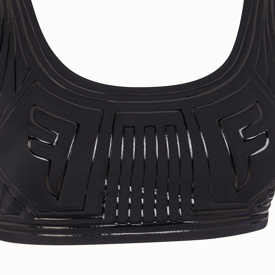 FENDI TOP - Black Lycra top - view 3 detail