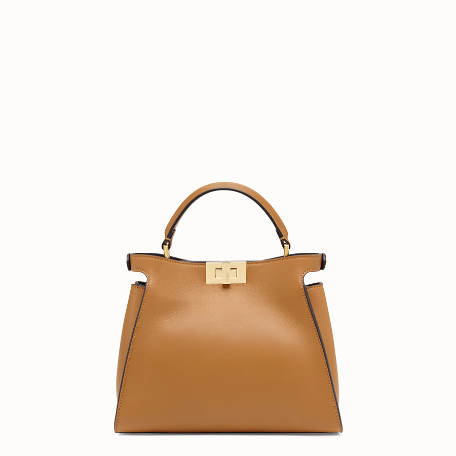 FENDI PEEKABOO ESSENTIAL - Tasche aus Leder in Braun - view 4 detail