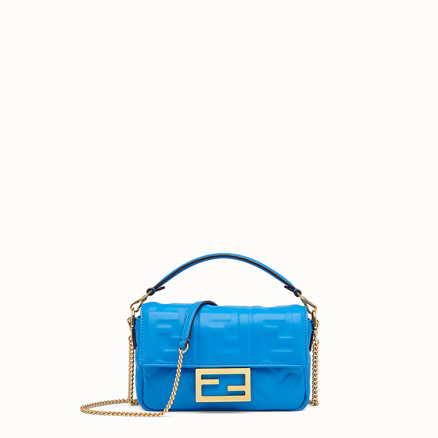 FENDI BAGUETTE - Blue leather mini-bag - view 1 detail