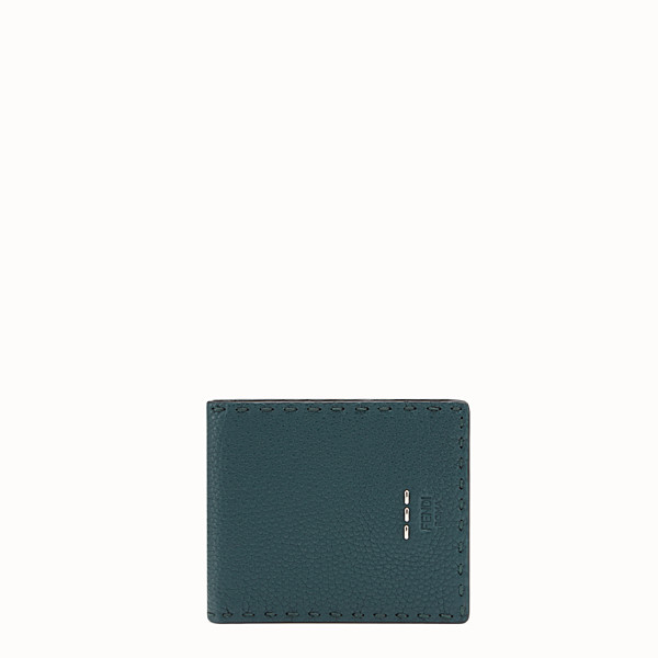 FENDI WALLET - Green leather Selleria bi-fold wallet - view 1 small thumbnail