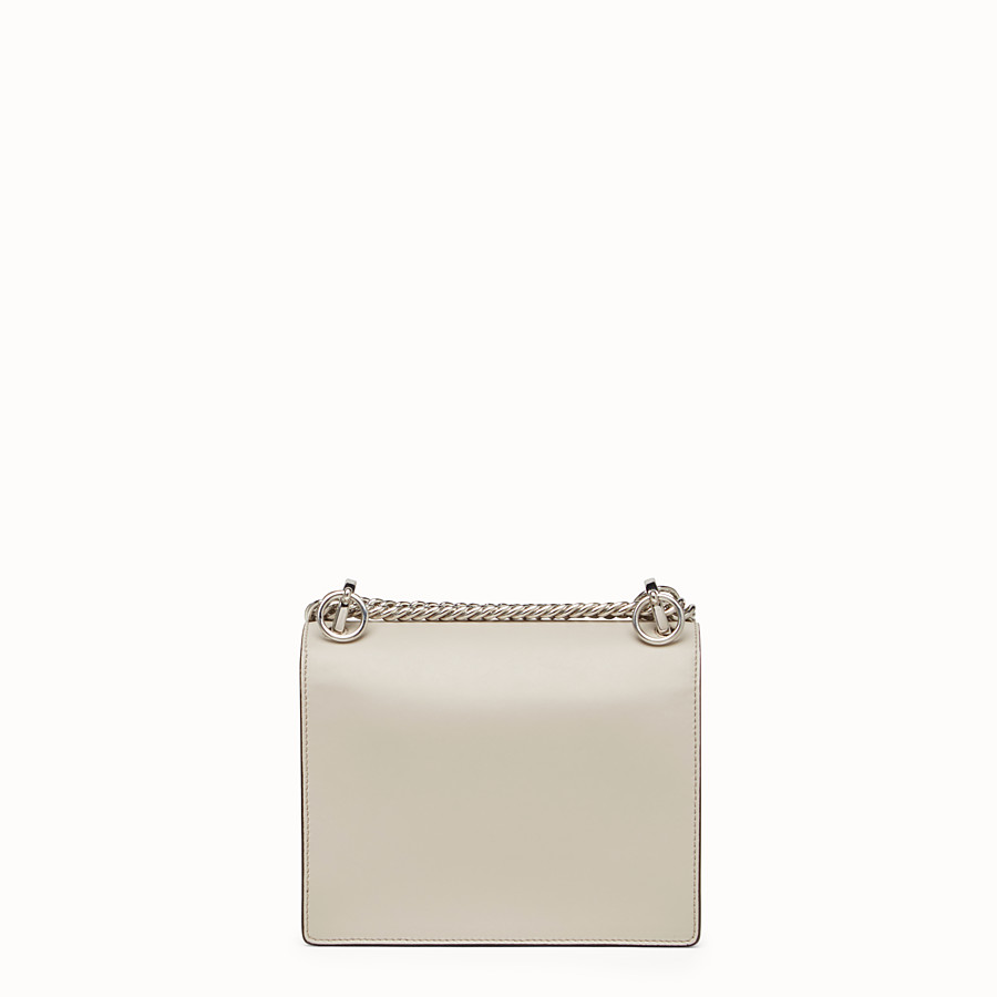 FENDI KAN I SMALL - Mini-bag in powder grey leather - view 4 detail