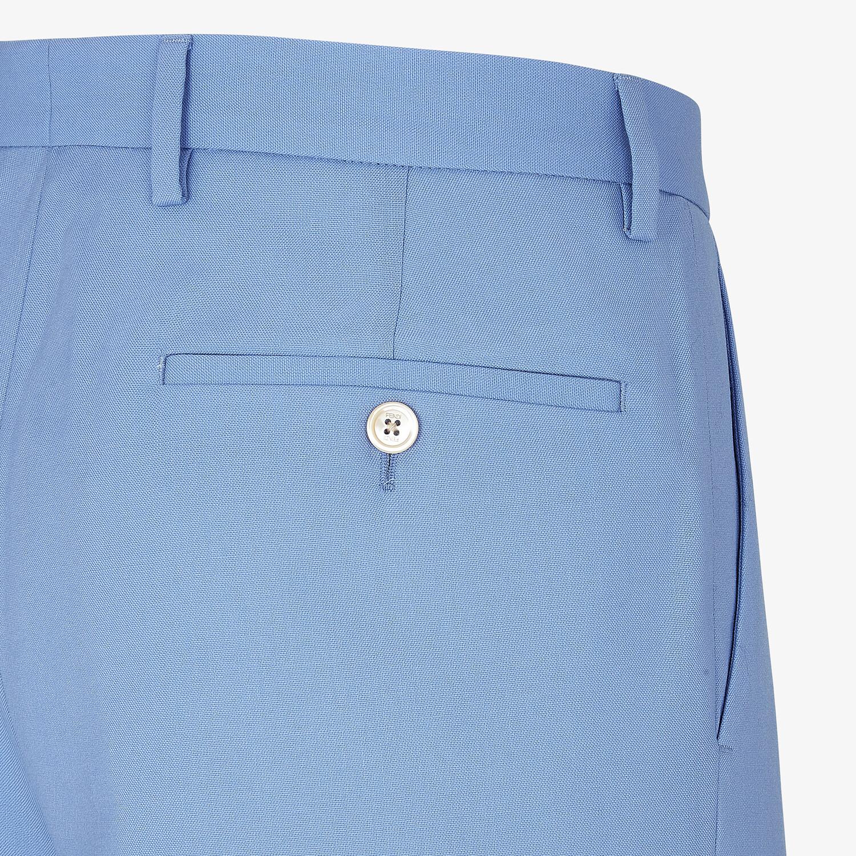 FENDI PANTS - Light blue wool pants - view 3 detail